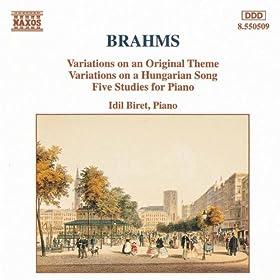 Brahms: Variations, Op. 21 / 5 Piano Studies