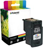 Polaroid Professional C-CL211-PRO Remanufactured Inkjet Cartridge Replacement for Canon CL-211 (2976B001), Color Ink