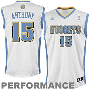 adidas Denver Nuggets Carmelo Anthony Youth (Sizes 8-20) Revolution 30 Replica Home... by adidas