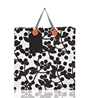Love To Design Graphic Floral Large Gift Bag