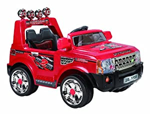 Scream 12V (Twin 6V) Rangie Styled Ride-on Car (Red)