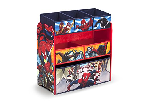 Best Price! Delta Children Multi-Bin Toy Organizer, Marvel Spider-Man