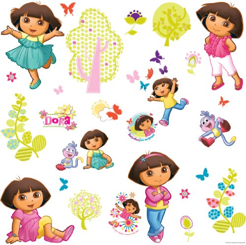 RoomMates RMK1378SCS Dora the Explorer Peel &amp; Stick Wall Decals