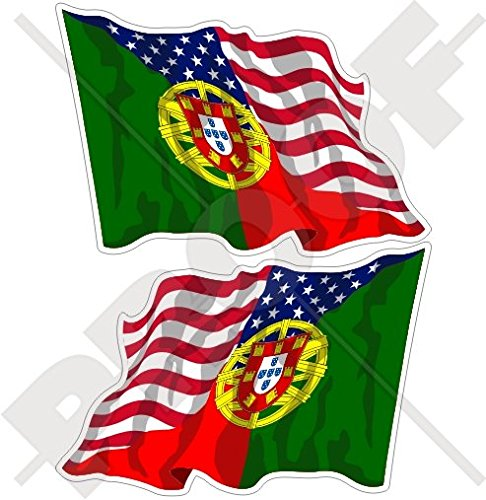 USA United States of America & PORTUGAL American-Portuguese Flying Flag 3