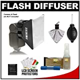 Zeikos Universal Soft Box Flash Diffuser with Cleaning Accessory Kit for Nikon Speedlight SB-600, SB-900 & D3000, D3100, D5000, D7000, D90, D300s, D3, D3s, D3x Digital SLR Cameras