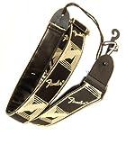 """Fender USA ( フェンダー ) 2""""Monogrammed Straps (BLACK/CREAM) 人気NO.1ギターストラップ!モノグラムロゴがかっこいい!"""