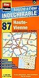 echange, troc Blay-Foldex - Haute-Vienne (87) - Carte Départementale, Administrative et Routière (échelle : 1/180 000)