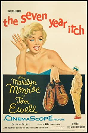 the seven year itch 1955 original movie poster marilyn