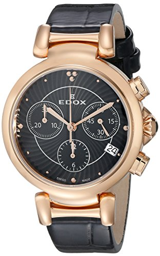 Edox-Womens-10220-357RC-NIR-LaPassion-Analog-Display-Swiss-Quartz-Black-Watch