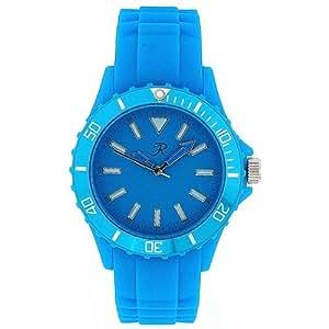 Montre Sport Unisexe - Femmes Analogique Bracelet En Silicone Bleu Par Reflex SR002