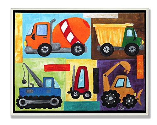 The Kids Room by Stupell Construction Trucks Rectangle Wall Plaque Set