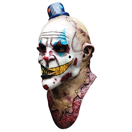 Evil Zombie Clown Mime Zack Deluxe Overhead Adult Latex Scary Halloween Mask (Halloween Masks Scary)