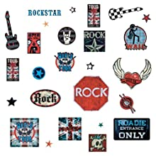RoomMates RMK1563SCS Boys Rock And Roll Wall Decals