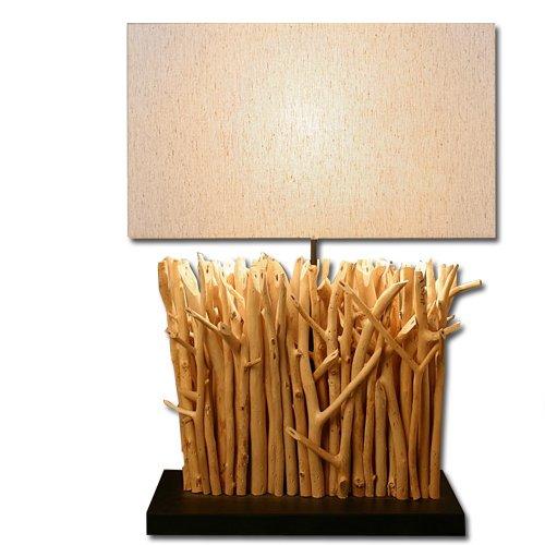 Lume in legno naturale lampada da tavolo da camera studio 40x50 cm