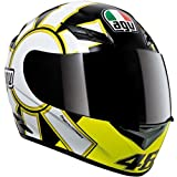 AGV K3 Series Helmet , Color: Gothic Black, Size: Md 032150A0008007