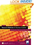 RESEARCH METHODS FOR BUSINESS STUDENT...
