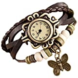 Vintage Bracelet Analogue Brown Women's Watch - Brown - Free Extra Battery