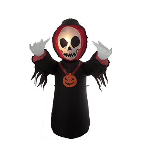 4 Foot Halloween Inflatable Grim Reaper Yard Decoration