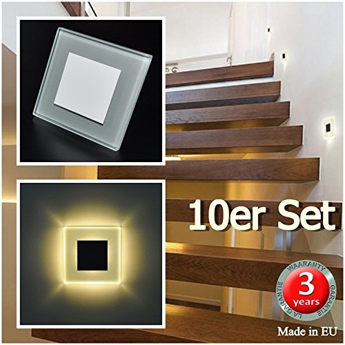 10er set led design warmweiß sun led einbauleuchten 75 17941