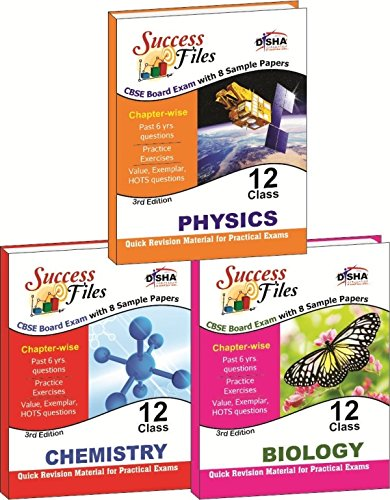 CBSE-Board Success Files Class 12 Physics, Chemistry & Biology with 8 Sample Papers (Old Edition)