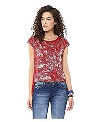 Yepme Women's Red Polyester Tops/Blouses - YPMTOPS1074_XL
