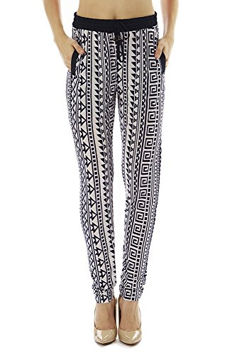 Golden Black Women's Printed Knitted Joggers Pants 124 M