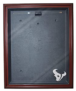 Houston Texans Cabinet Style Jersey Display, Mahogany by Caseworks