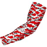 "Red Arm Sleeve ""The Wild"" Camouflage Pattern, 15 Colors , Youth And Adult Sizes - (Includes 1 Sleeve)"