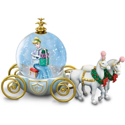 Disney Miniature Cinderella Snowglobe A Party For A Princess By The