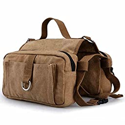 DAN SPEED Cotton Canvas Dog Pack Hound Travel Camping Hiking Backpack Saddle Bag Rucksack for Medium and Large Dog