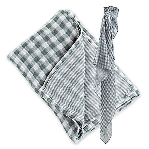 Lulujo Reversable Swaddling Blanket (Warm Grey)