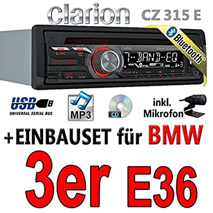 BMW série 3 e36-clarion cZ315E-autoradio bluetooth avec