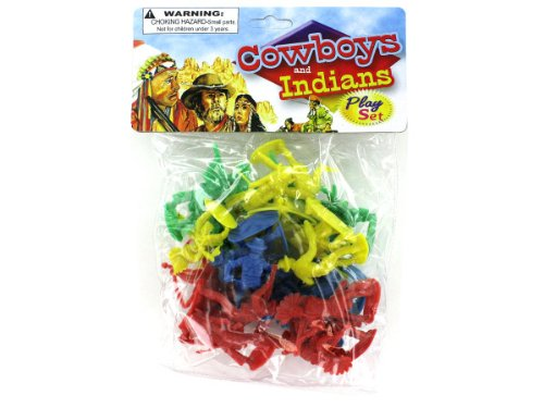 bulk buys Cowboys and Indians Play Set - 1