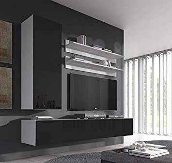 Muebles Bonitos – Conjunto muebles Nora blanco negro modelo H1