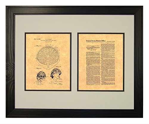"Camouflaging Covering For Military Helmets Patent Art Print in a Solid Pine Wood Frame (20"" x 24"")"