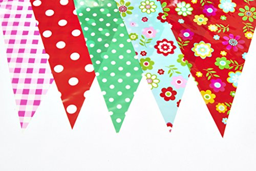 20 Flags 33 Feet Long Garden Party Baby Shower Decoration Vintage Flags Banner [C1002]