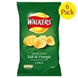 Walkers Salt & Vinegar Crisps 4x6x25g
