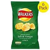 Walkers Salt & Vinegar Crisps 4x6x25g
