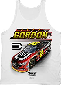 Jeff Gordon #24 NASCAR Race Tank Top-White by NASCAR