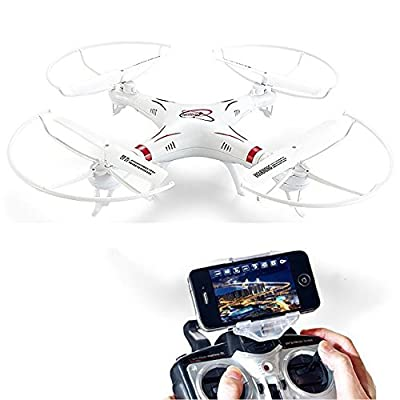 Enuio HQ 898B Remote Control Helicopter 2.4G 4 Channels 6-axis Gyro Professional Drones Headless Mode Quadcopter With WIFI FPV 2.0MP HD Camera Real-time Video Transmission Aerial Technology