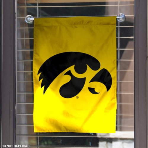 Iowa hawkeyes garden flag and yard banner home decor for Iowa hawkeye decor