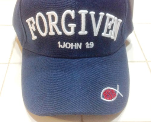 Forgiven 1 John 1:9 Christian Baseball Cap, Navy