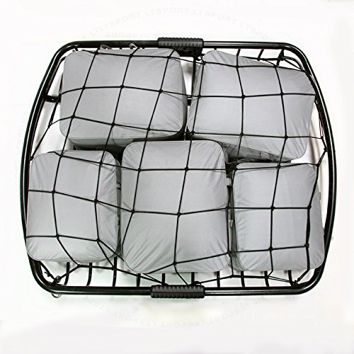 LT Sport SN#100000000840,100000000781-207 For Buick Combo Steel+Rubber Rooftop Cargo Basket + Net (2014 Buick Enclave Cargo Net compare prices)