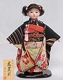 【市松人形】【翠仙作】【日本の人形】花茉莉【市松人形】v1382c【創作市松13号】ケース付き