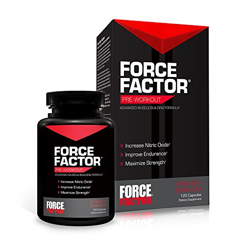 Force Factor Pre Workout Capsules, 120 Count | Health help