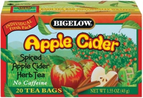 Buy Bigelow Apple Cider Herbal Tea, 1.55 Ounce Boxes (Pack of 6) (Bigelow, Health & Personal Care, Products, Food & Snacks, Beverages, Tea, Herbal Teas)