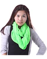 HDE Womens Lightweight Soft Sheer Jersey Long Infinity Loop Solid Color Scarf