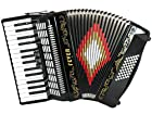 Fever F3048-BK Piano Accordion with 3 Switches