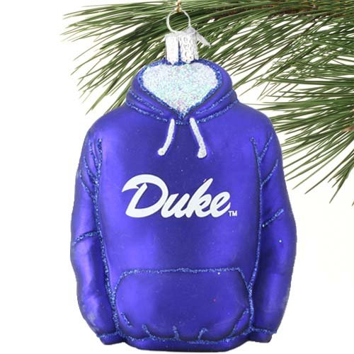 NCAA Duke Blue Devils Glass Hoodie Ornament at Amazon.com