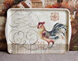 Susan Winget Rooster Serving Decorative Tray 18 inches